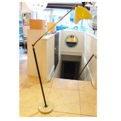 Arredoluce Sculptural Floor Lamp in Lacquer and Gilt Brass in the Style of Arredoluce - 201366