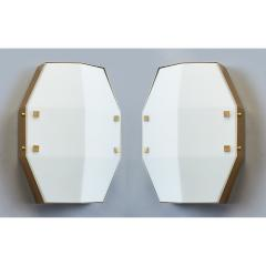 Arredoluce Three Pair of Satin Opaline Glass Sconces or Ceiling Lights 1960s - 1288305