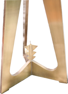 Arriau Pedestal in Brass and Top in Onyx Model Cupidon by Arriau - 615568