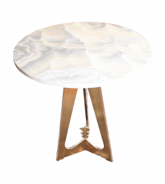 Arriau Pedestal in Brass and Top in Onyx Model Cupidon by Arriau - 615573