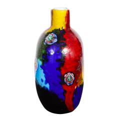 Arte Vetraria Muranese A V E M A Ve M AVeM Colorful Handblown Glass Vase by A V E M 1960s - 2126201