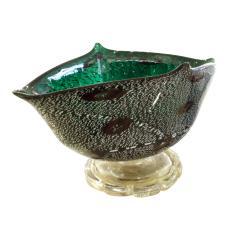 Arte Vetraria Muranese A V E M A Ve M AVeM Giulio Radi Hand Blown Vessel with Gold and Silver Foil and Murrhines 1940s - 965377