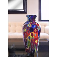 Arte Vetraria Muranese A V E M A Ve M AVeM Handblown Glass Vase with Gold Foil and Large Murrhines By A V E M 1950s - 2128159