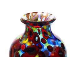 Arte Vetraria Muranese A V E M A Ve M AVeM Handblown Glass Vase with Gold Foil and Large Murrhines By A V E M 1950s - 2128166