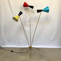 Arteluce Italian Modern Triennale 3 Arm Articulating Adjustable Floor Lamp Italy 1960s - 1610158