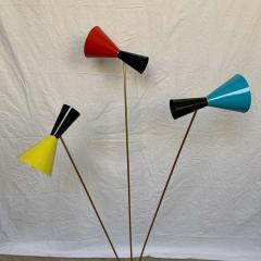Arteluce Italian Modern Triennale 3 Arm Articulating Adjustable Floor Lamp Italy 1960s - 1610163