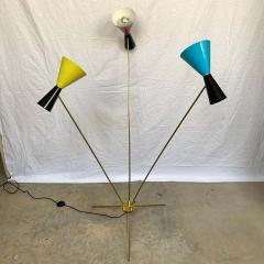 Arteluce Italian Modern Triennale 3 Arm Articulating Adjustable Floor Lamp Italy 1960s - 1610170