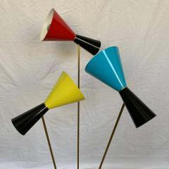 Arteluce Italian Modern Triennale 3 Arm Articulating Adjustable Floor Lamp Italy 1960s - 1610177