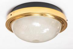 Artemide 1960s Sergio Mazza Brass and Glass Wall or Ceiling Light for Artemide - 911609