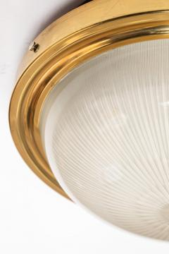Artemide 1960s Sergio Mazza Brass and Glass Wall or Ceiling Light for Artemide - 911611