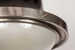 Artemide 1960s Sergio Mazza Tau Nickeled Brass Pendant for Artemide - 1637073