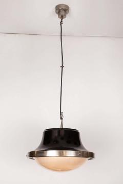 Artemide 1960s Sergio Mazza Tau Nickeled Brass Pendant for Artemide - 1637078