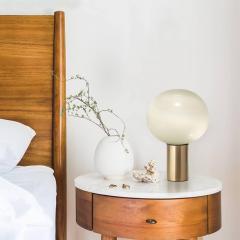 Artemide Mattheo Thun Laguna Glass and Gold Metal Table Lamp for Artemide - 577002