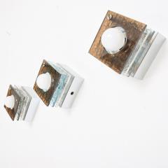 Artemide Multi Colored Square Sconces in Textured Plexiglass after ARTEMIDE Italy 1980s - 1640318