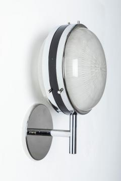 Artemide Pair of 1960s Sergio Mazza Glass and Metal Sconces for Artemide - 1222147