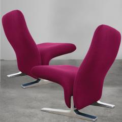 Artifort Chairs F780 by Pierre Paulin for Artifort New Fushsia Kvadrat Upholstery 1970s - 1027535