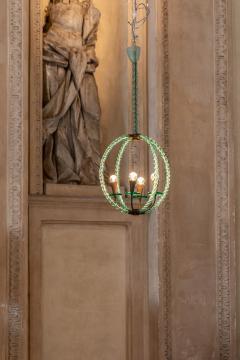 Artisti Barovier Barovier Green Hand Blown Murano Glass Chandelier - 1616575