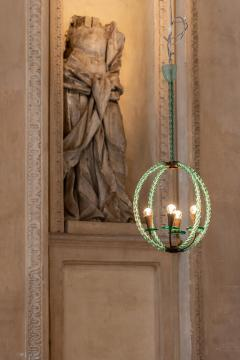 Artisti Barovier Barovier Green Hand Blown Murano Glass Chandelier - 1616577