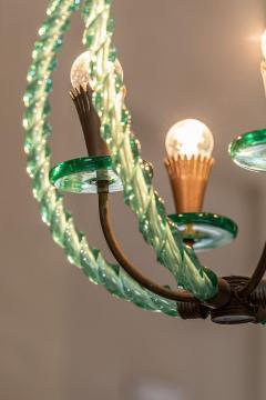 Artisti Barovier Barovier Green Hand Blown Murano Glass Chandelier - 1616588