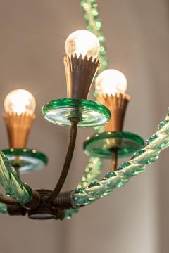 Artisti Barovier Barovier Green Hand Blown Murano Glass Chandelier - 1616589