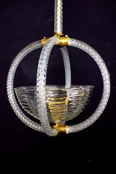 Artisti Barovier Italian Art Deco Lantern by Barovier 1940 - 1567786