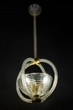 Artisti Barovier Italian Art Deco Lantern by Barovier 1940 - 1567792