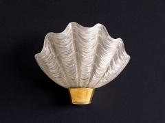 Asea Pair of Shell Shaped Coquille Wall Lamps by ASEA Skandia Sweden 1940s - 940252