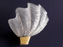Asea Pair of Shell Shaped Coquille Wall Lamps by ASEA Skandia Sweden 1940s - 940254
