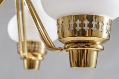 Asea Swedish Chandelier in Brass and Opaline Glass ASEA - 848994