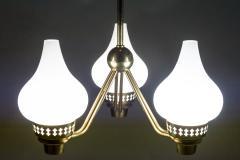 Asea Swedish Chandelier in Brass and Opaline Glass ASEA - 848998