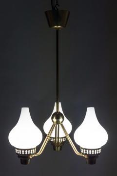 Asea Swedish Chandelier in Brass and Opaline Glass ASEA - 849000