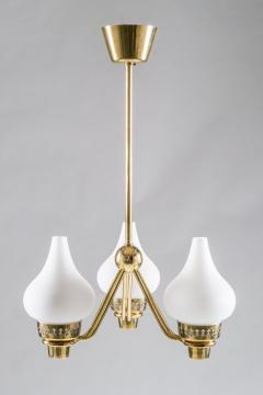 Asea Swedish Chandelier in Brass and Opaline Glass ASEA - 849001