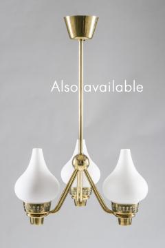 Asea Swedish Chandelier in Brass and Opaline Glass ASEA - 849002