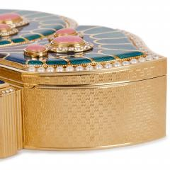 Asprey 18 karat gold enamel pearl and precious stone box by Asprey - 1277236