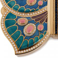 Asprey 18 karat gold enamel pearl and precious stone box by Asprey - 1277238