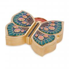 Asprey 18 karat gold enamel pearl and precious stone box by Asprey - 1277243