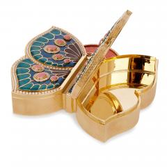 Asprey 18 karat gold enamel pearl and precious stone box by Asprey - 1277244