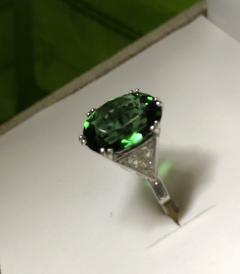 Asprey Asprey Tourmaline triangular Diamond Platinum Ring - 1372852