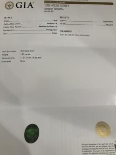 Asprey Asprey Tourmaline triangular Diamond Platinum Ring - 1372900