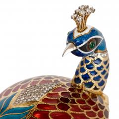 Asprey Faberg style bejewelled and enamelled gold egg by Asprey - 1290601