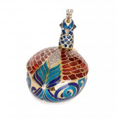Asprey Faberg style bejewelled and enamelled gold egg by Asprey - 1290608