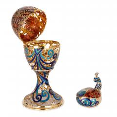 Asprey Faberg style bejewelled and enamelled gold egg by Asprey - 1290610