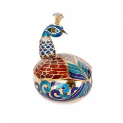 Asprey Faberg style bejewelled and enamelled gold egg by Asprey - 1290611