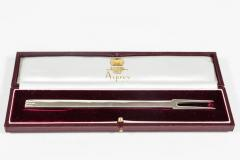 Asprey Luxurious Silver Two Pronged Puritan Manners Fork by Asprey London - 258207
