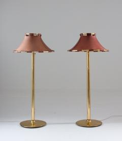 Atelje Lyktan Floor Lamps in Brass and Leather Model Anna by Anna Ehrner for Atelj Lyktan - 1433859
