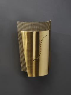 Atelje Lyktan Set of Atelje Lyktan Brushed Brass S Wall Sconces - 1706915