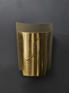 Atelje Lyktan Set of Atelje Lyktan Brushed Brass S Wall Sconces - 1706917