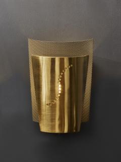 Atelje Lyktan Set of Atelje Lyktan Brushed Brass S Wall Sconces - 1706918