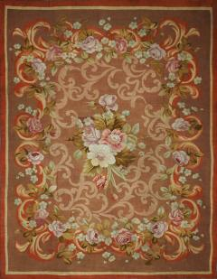 Aubusson French Restoration Period Handwoven Antique Aubusson Rug circa 1830 - 998109