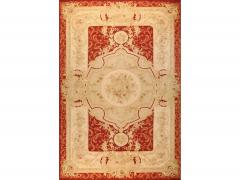 Aubusson Handwoven Antique Aubusson Wool and Silk Rug circa 1920 - 999448